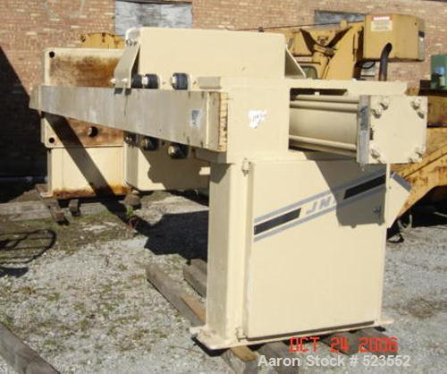 USED: JWI filter press, 1200 mm, 50 cubic feet expandable to 60cubic feet, 34 chamber expandable to 41 chamber. 40 mm cake t...