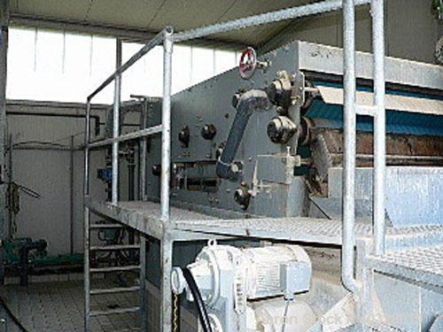 "Used-Klein Umwelttechnik GmbH KS-20 Filter Press. Belt width 78"" (2000 mm), weight 8.8 tons (8000 kg), motor 3 hp/2.2 kW, 12..."
