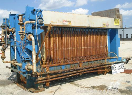 "USED: Komline Sanderson KS Avery diaphragm plate filter press, model 1200-225DSLS48/40. Carbon steel frame. (32) 48"" x 48"" p..."