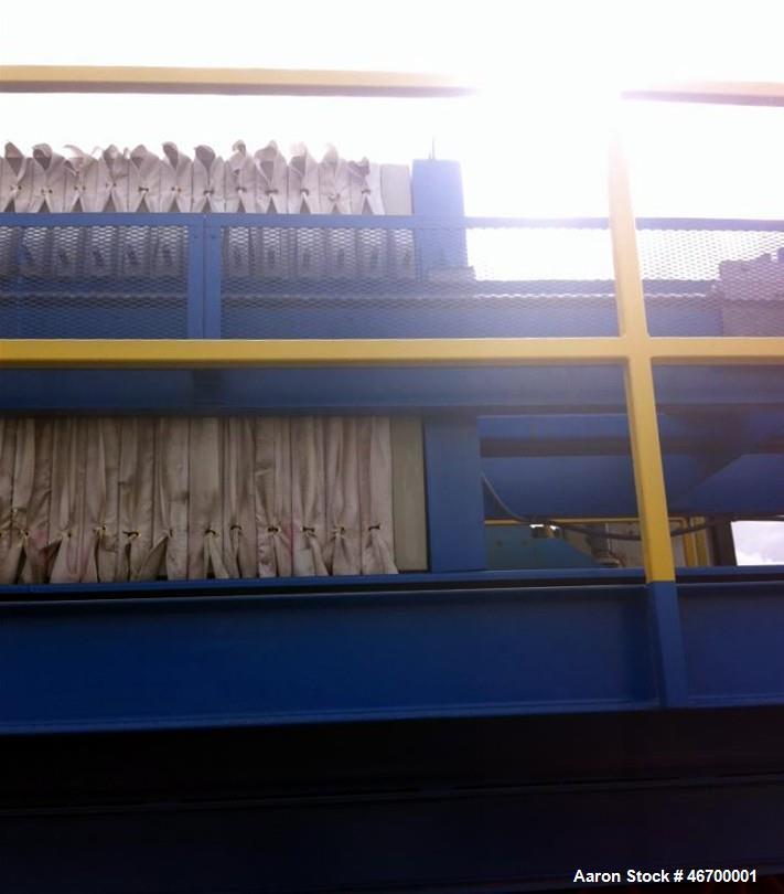 Used- Komline Sanderson Filter Press, Model 1200-225LS/70-86/50. (65) 1200 mm x 1200 mm, 86 cuft/ 19.48 sqft area. Polypropy...