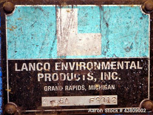 "Used- Lanco Environmental Products Filter Press, Model 4-5A. (16) Approximately 24-5/8"" X 24-5/8"" polypropylene plates, (1) ..."