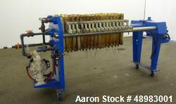 Used-Micronics Filter Press, 3 cuft. Cake Capacity.