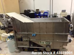 "Used- Bluewater Technologies EcoMAT Rotating Belt Filter,  Model EM-15. 30"" wide belt, 1200 gpm capacity, 130"" x 58"" x 87"". ..."