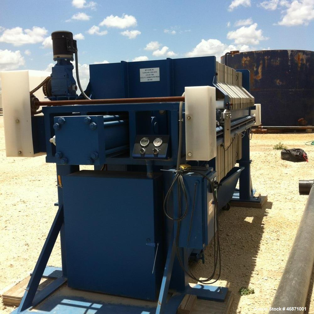 Unused- MetChem 30 Cubic Foot Hydraulic 1200 MM Filter Press. 25 gasket plates, fully automated, dumpsters included. Mfg. 20...