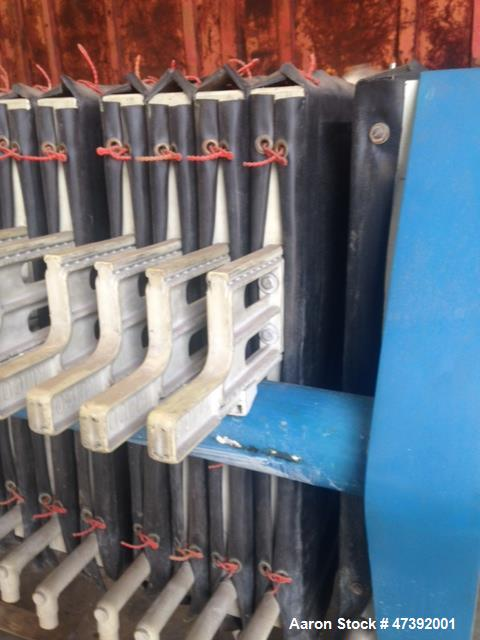 """Used- 3 cu ft Netzsch Filter Press, Model 630LP/1. Approximately 65 sq. ft. 24"""" x 24"""", (15) Polyprop plates. Yr. 1990."""