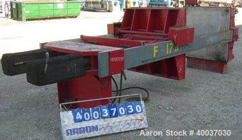 "Used- Filter Press, 48"" x 48"". (20) 2 1/2'' thick polypropylene plates, 1/2'' recess. (1) head, missing tail plate. 4 corner..."