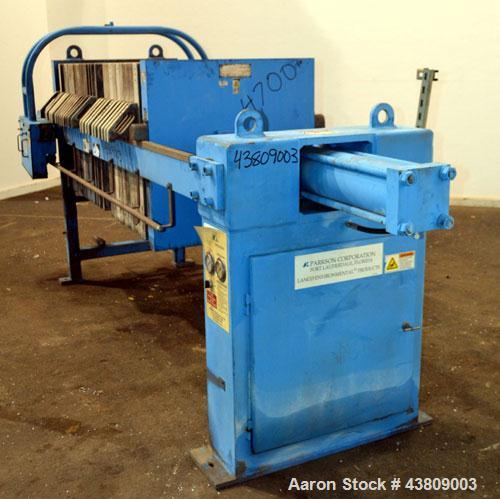 "Used- Parkson Lanco Environmental Products Filter Press, Model AFP-800-100. (21) Approximately 31-3/8"" X 31-3/8"" polypropyle..."