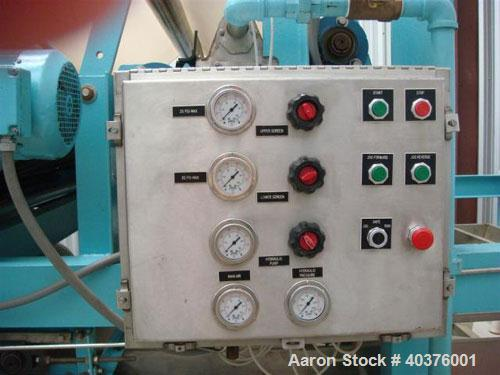 Used-Parkson 2 meter belt filter press. Includes Moyno pump, Goulds pump, (1) new stainless steel control panel, (1) new con...