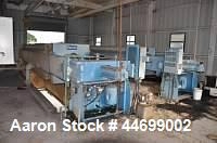Used-Perrin Filter Press, Model 100-48.  Air / oil mechanized filter press, 1200 mm, filter area initial 1858 square feet ex...