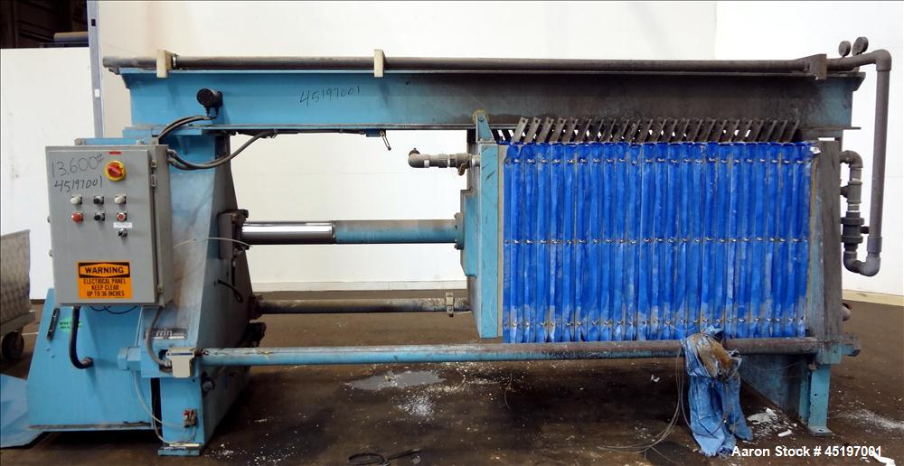 Used- Carbon Steel Perrin Head Filter Press, Model 1000mm