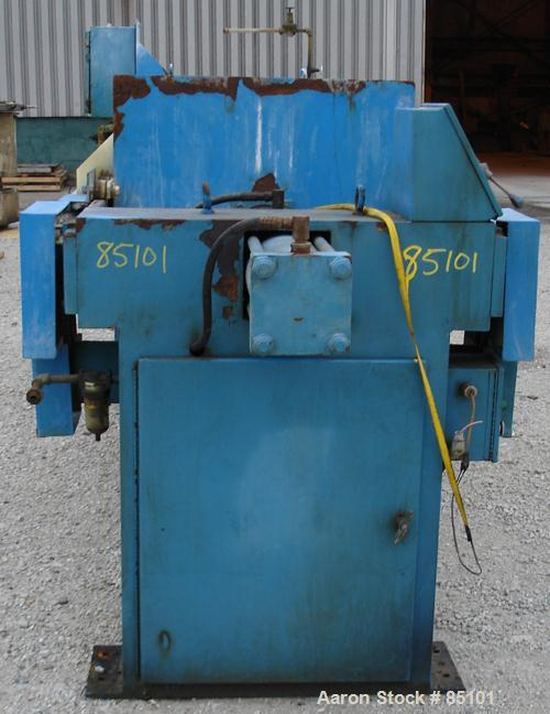 """USED: Quantum Technologies filter press, carbon steel frame. (43) 39"""" x 39"""" polypropylene plates, approximately 477 square f..."""