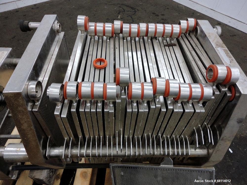 Used- Stainless Steel Schenk Polishing Press, Model F2