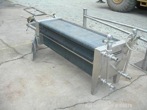 Used- Stainless Steel Seitz Enzinger Noll Polishing Filter Press, Type 40/100A4