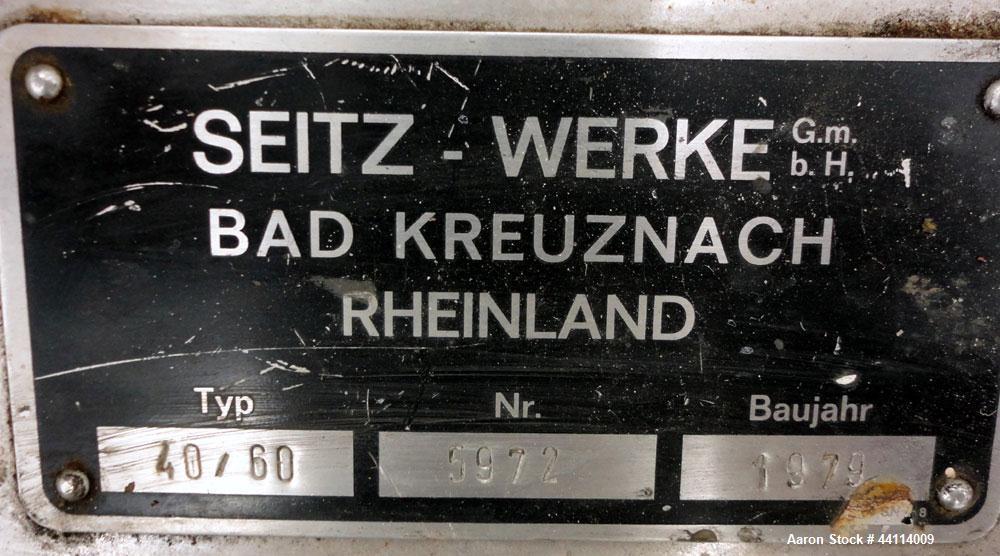 Used- Stainless Steel Seitz Orion Werke Polishing Press, Type 40/60