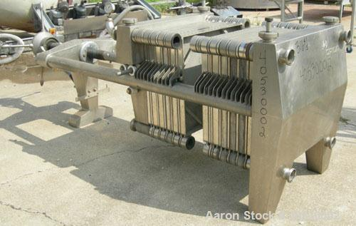 """Used- Seitz Orion plate and frame filter press, type 60A80, 316 stainless steel. (11) 22 3/4"""" X 22 3/4"""" 1/2 thick plates, (1..."""