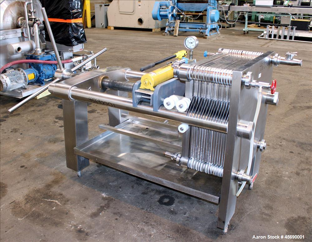 Used- Seitz Filter Press, Model V600P/50, Stainless Steel Construction