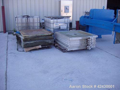 Used-Shriver 18 Cubic Foot Filter Press, model 48-188-1.25. 12 Chambers, 2835 square feet of filter area, 15 cubic foot hold...