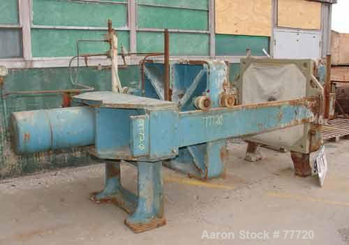 "Used- Shriver Plate & Frame Filter Press, Size 48. Cast iron frame. (13) 48"" x 48"" Polypropylene plates, 1 end plate, 208 sq..."