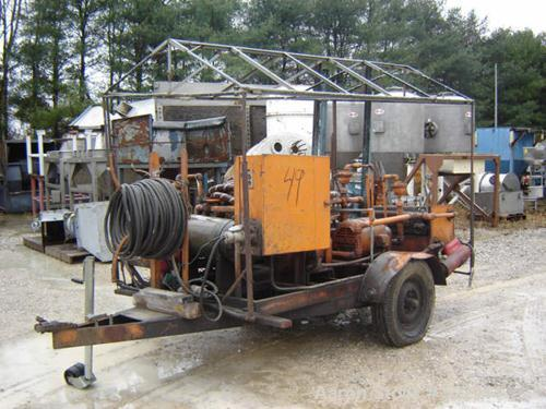 USED: Oil purification trailer with Shriver plate and frame filterpress. Portable trailer with filters and pumps for filteri...