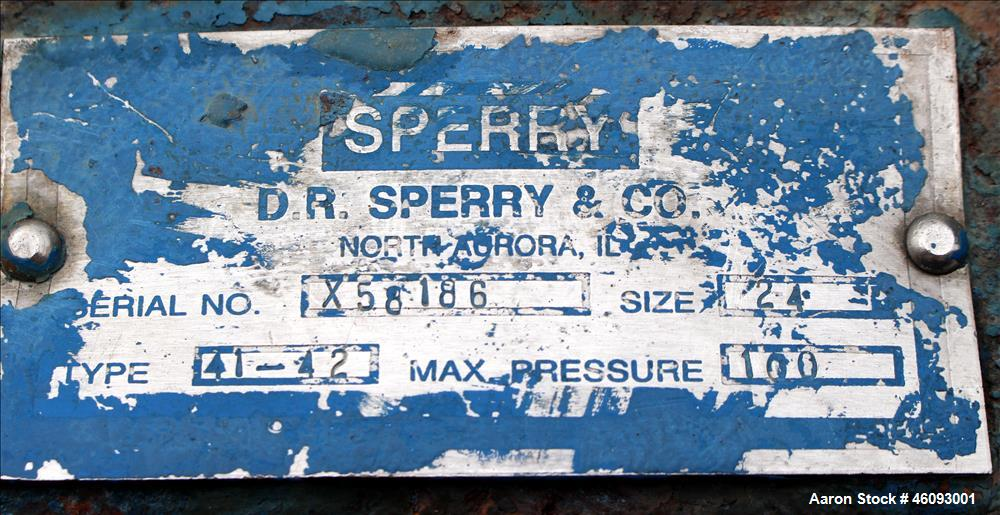 """Used- Sperry Filter Plated And Frame Filter Press, Type 41-42, Size 24. (75) 24"""" x 24"""" Polypropylene Plates. Approximately f..."""
