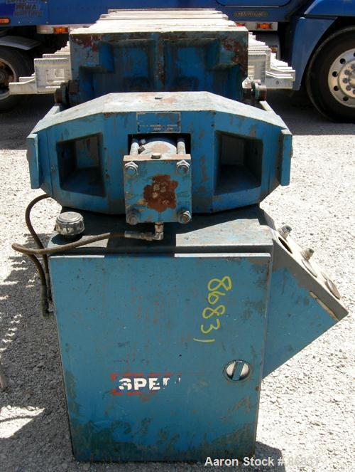 "USED: Sperry plate and frame filter press, type 41-4, size 24, carbon steel frame. (15) 24"" x 24"" x 1"" thick polypropylene p..."