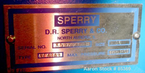 "USED: Sperry filter press, carbon steel frame. 36"" x 36"" polypropylene, approx 51 plates 1"" thick and 50 frames 1-1/4"" thick..."