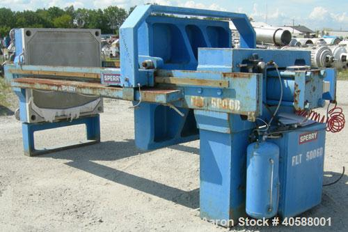 "Used- Sperry Filter Press, type CRN, size 48. (32) 49"" x 50"" polypropylene plates, approximate 1"" cake.  Approximate 445.63 ..."