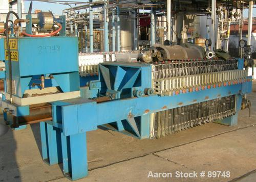 "USED: Standard Filter Corp filter press, model M-36-454-G. (31) 36"" x 36"" polypropylene recessed plates having an approximat..."