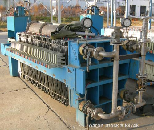 """USED: Standard Filter Corp filter press, model M-36-454-G. (31) 36"""" x 36"""" polypropylene recessed plates having an approximat..."""