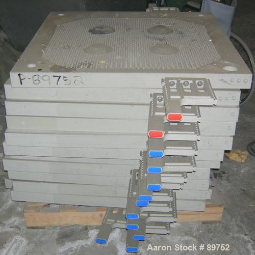 """USED: Standard Filter Corp filter press. (31) 36"""" x 36"""" polypropylene recessed plates having an approximate 1/2"""" recess. Pla..."""