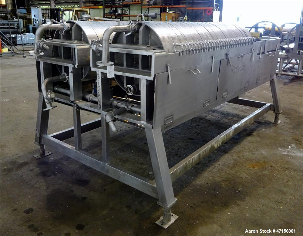 Used- STAR Systems Dual Plate Filter Press, Model 34-24D-316-SS-SH-304-TWIN.