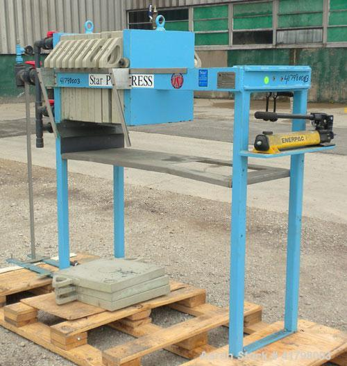 "Used- Star Systems Filter Press, Model ECRC6-470Q/ADP/APC/BD/CB. (7) 18"" x 18"" polypropylene plates, 1 head, 1 tail. Approxi..."