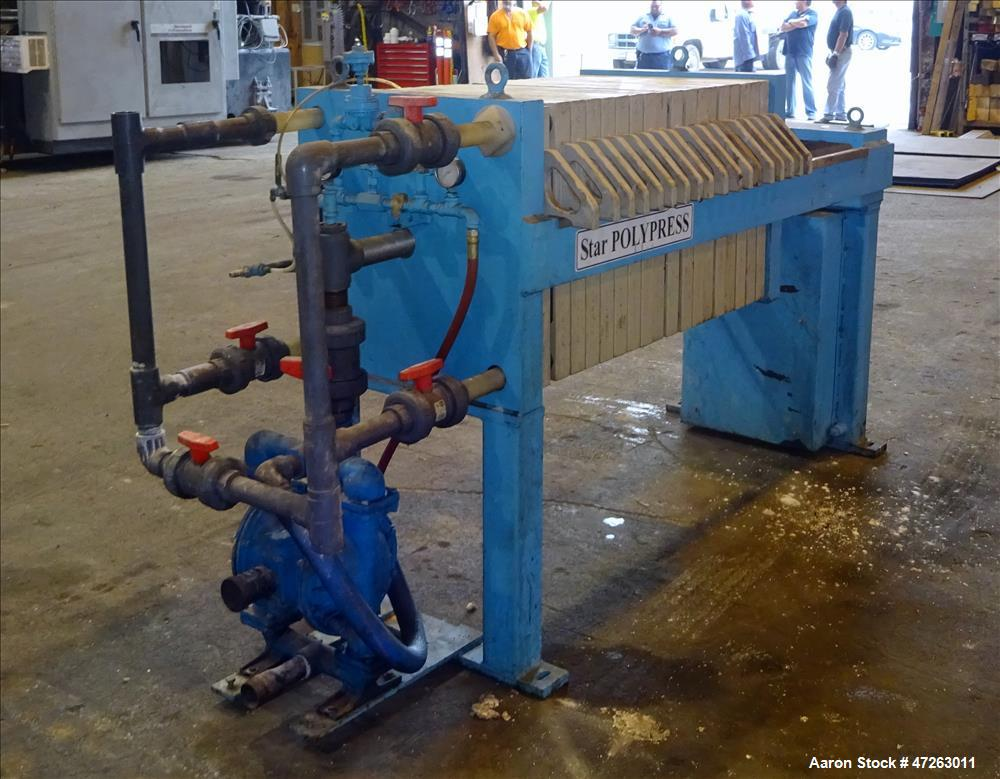 "Used- Star Systems Filter Press, Model R17630/50630002. Approximate 82 square feet filter area. (18) 25"" x 25"" polypropylene..."