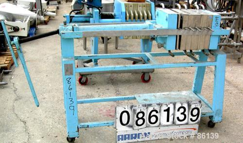 Used- Star Systems Filter Press, Model 4-12/8B/4P-2J, 304 Stainless Steel. (2) Plates 12 x 12, (2) jacketed frames and (2) r...