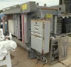 Used- Durco Quadra Press Filter Press, Model QPM-1000/40-10/16. (10) 39'' x 39'' x approximately 3/4'' recess polypropylene ...