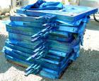 USED: JWI filter press, carbon steel frame. (83) 48
