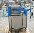 Used- Plate and Frame Filter Press, 316 stainless steel. (7) 11