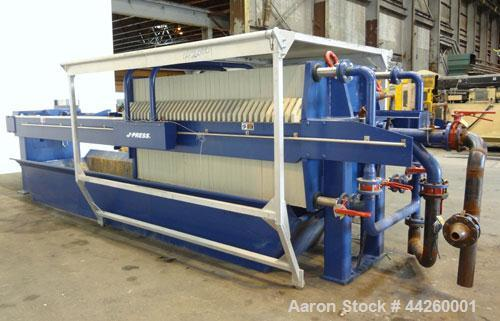 "Used- US Filter Dewatering Systems JWI J-Press Filter Press, Model 1200G32-38/76-50/100SYLC. (37) 47.2"" x 47.2 polypropylene..."