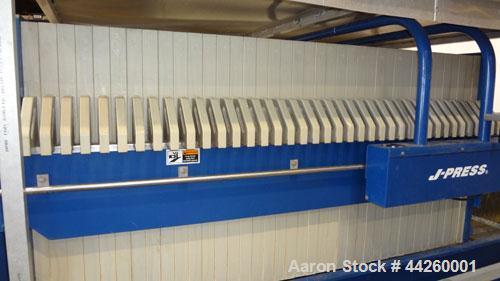 "Used- US Filter Dewatering Systems JWI J-Press Filter Press, Model 1200G32-38/76-50/100SYLC. (37) 47.2"" x 47.2 polypropylene..."
