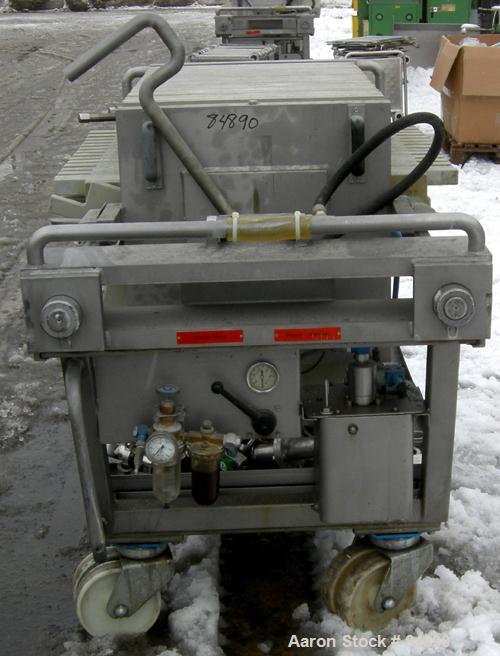 "USED: Von Roll plate and frame filter press, type HV3-D-630. 16 polypropylene plates 24"" (610mm) x 24"" (610mm) and 15 polypr..."