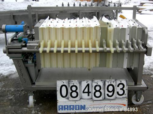 """USED: Von Roll Filter Press. 16 polypropylene plates, 19-1/2"""" (495mm) x 19-1/2"""" (495mm). Approximately 39.6 square foot filt..."""