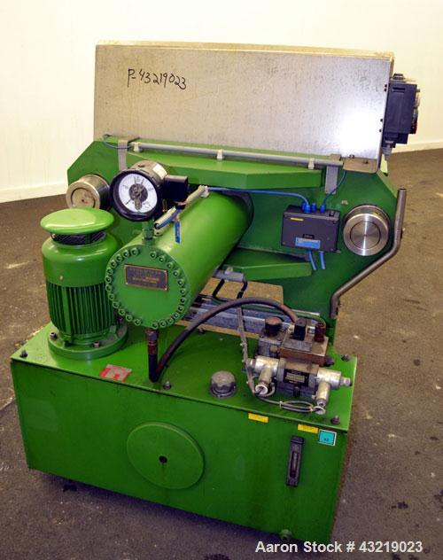 "Used- Von Roll Filter Press, Type HV5R-800. (16) Polypropylene plates 31.2"" x 31.2"" (800 mm x 800 mm), (1) head, (1) tail, (..."