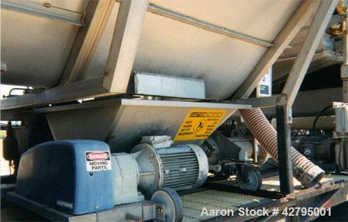 Used-Two (2) Meter Wrinkle Belt Press, 20' long, 12' wide and 11' high, stainless rollers. Includes extra belts. Mounted on ...