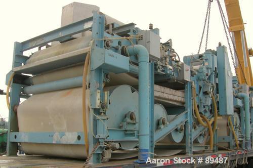 USED: Komline-Sanderson K-S Kompress belt fliter press, model GMD-1.5/2. Approximately 1.5/2. Approximately 12 to 16 percent...