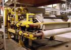 USED: Arus-Andritz belt filter press, 2 meter. Carbon steel frame,fiberglass hood.