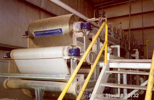 Used- Ashbrook Belt Filter Press, Model KLAMPRESS 8/90. 1 Meter wide dewatering belt. Has stainless steel wetted parts and s...