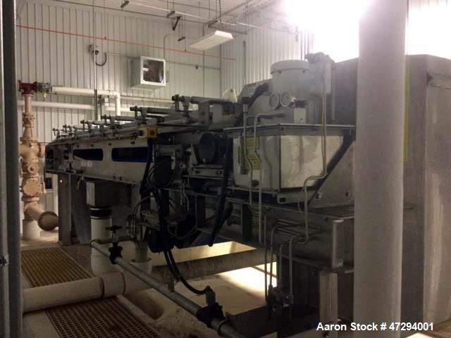 Used- Komline Sanderson Gravity Belt Press. Size: 2 meter, stainless steel frame. 5 hp drive motor and a back up 3 hp with f...