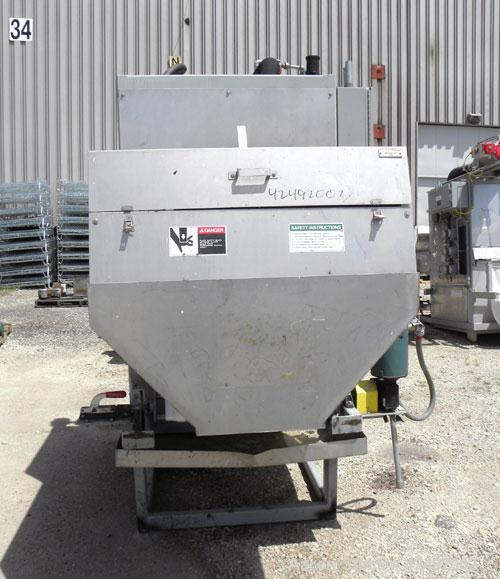 "Used- Oberlin Automatic Pressure Filter, Model OPF-4, Carbon Steel. 4 Square feet filter area. Approximate press area 24"" x ..."