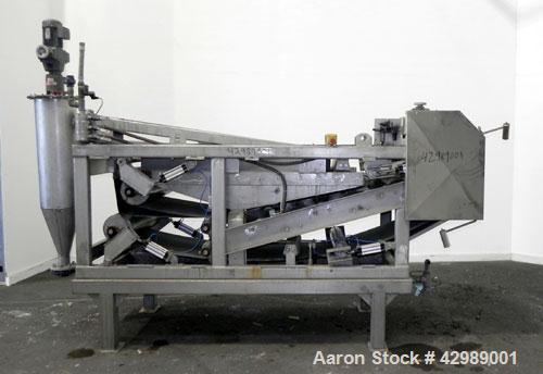 Used- OY Ekotuotanto AB Belt Press, Type LS 10 B06, 304 Stainless Steel. Approximate 220 square feet (21.4 m2) filtration ar...