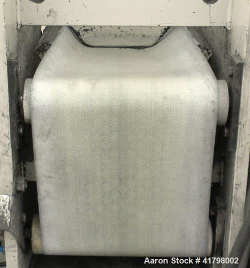 Used- Pannevis RT Pilot Horizontal Vacuum Filter. Approximate 0.1 square meter (1.0 square foot) filtration area. Polypropyl...